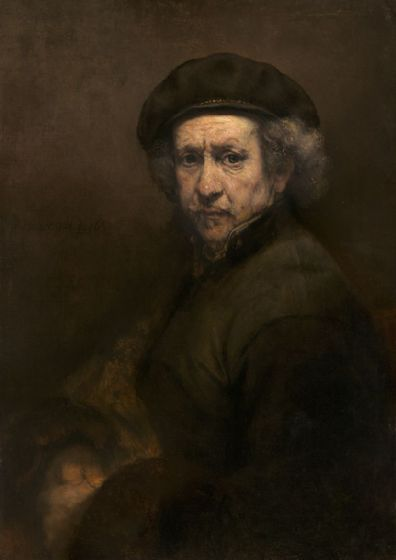 Rembrandt: Self Portrait. Fine Art Print/Poster. Sizes: A4/A3/A2/A1 (003944)